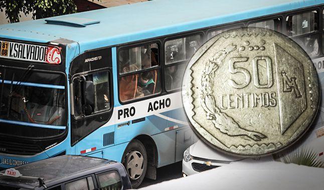 ¿El pasaje de S/ 0.50 o la 'china' desaparecerá del transporte público?