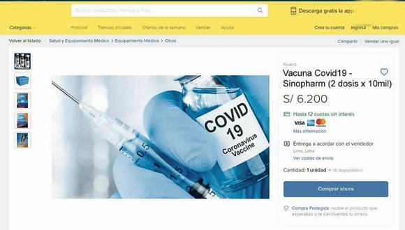 ¡EL COLMO! Estafadores ofrecen vacunas contra el coronavirus por internet y piden más de 6 mil soles
